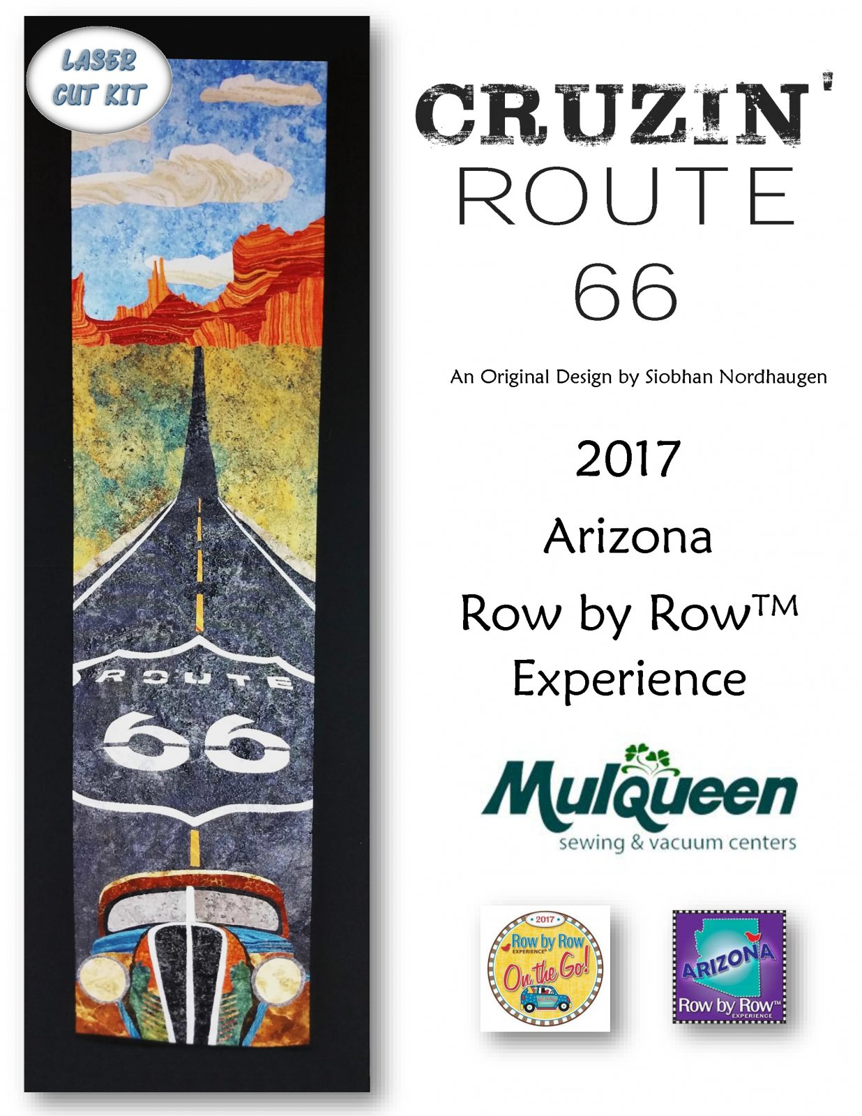 2017 Row by Row Cruzin' Route 66 LASER KIT - RBR17RT66M