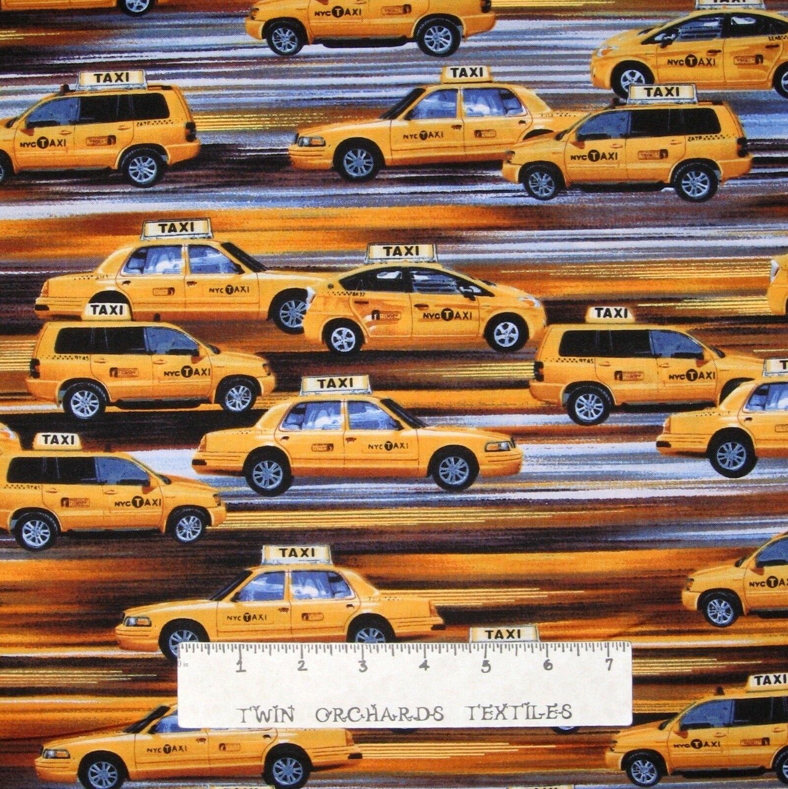 Urban Fabric - New York Taxi Stripe Yellow Gray