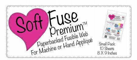 Soft Fuse Paper Backed Fusible Web 8 x 9, 10 Sheets- SF001