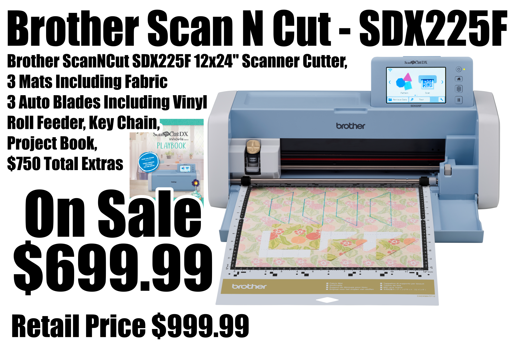 Brother Special Fabric Edition Scan N Cut SDX225F - SDX225F