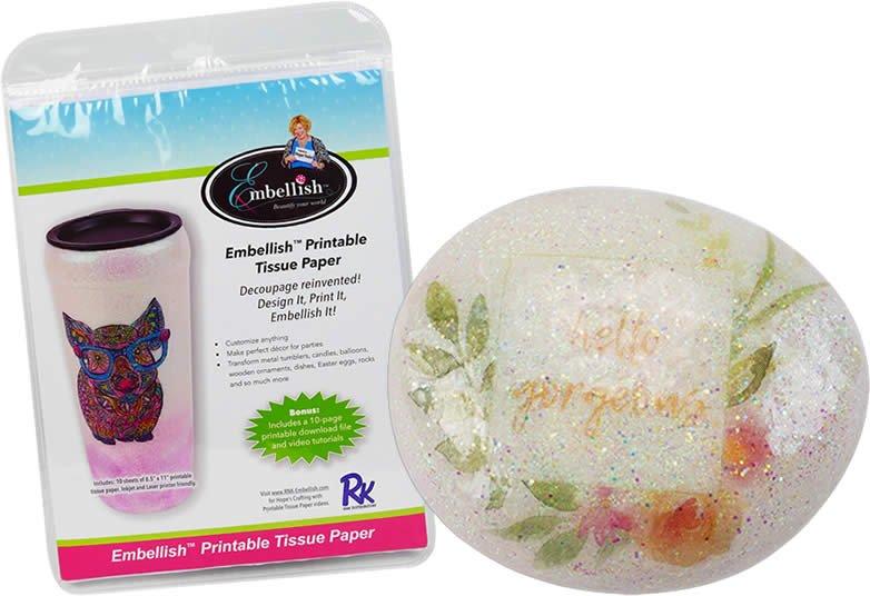 Embellish Printable Tissue Paper 10 Sheets - EMPT-811