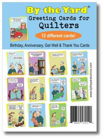 Greeting Cards for Quilters Variety 12 Pack From By The Yard - BTYQVP