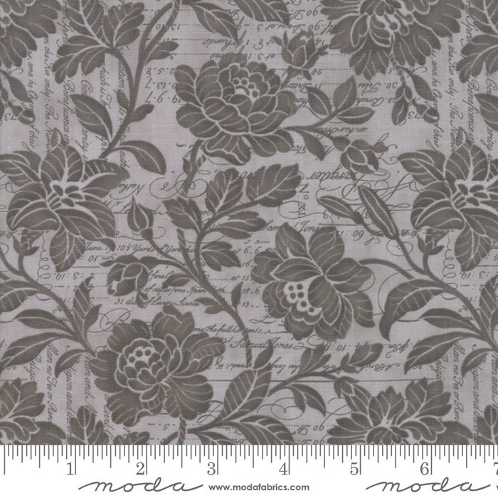 108 Memoirs Cotton Sateen Wide Quilt Backing by 3 Sisters for Moda - Silver