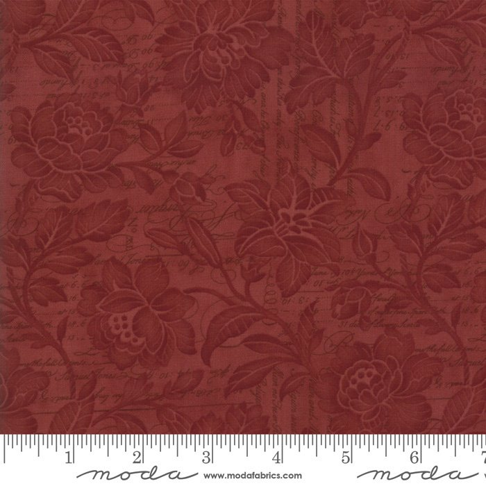 108 Memoirs Cotton Sateen Wide Quilt Backing by 3 Sisters for Moda - Rust