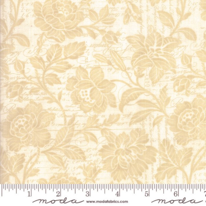 108 Memoirs Cotton Sateen Wide Quilt Backing by 3 Sisters for Moda - Parchment