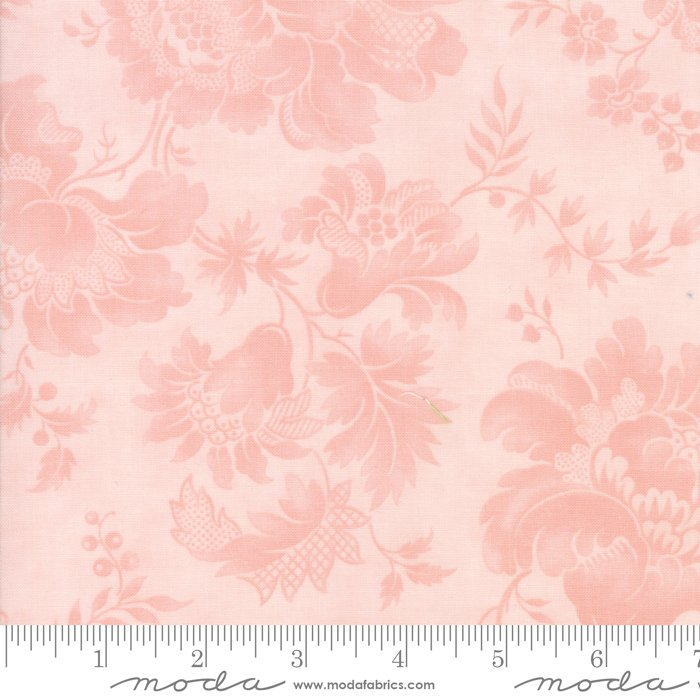 108 Rue 1800 Wide Cotton Sateen Quilt Backing by 3 Sisters for Moda - Rose