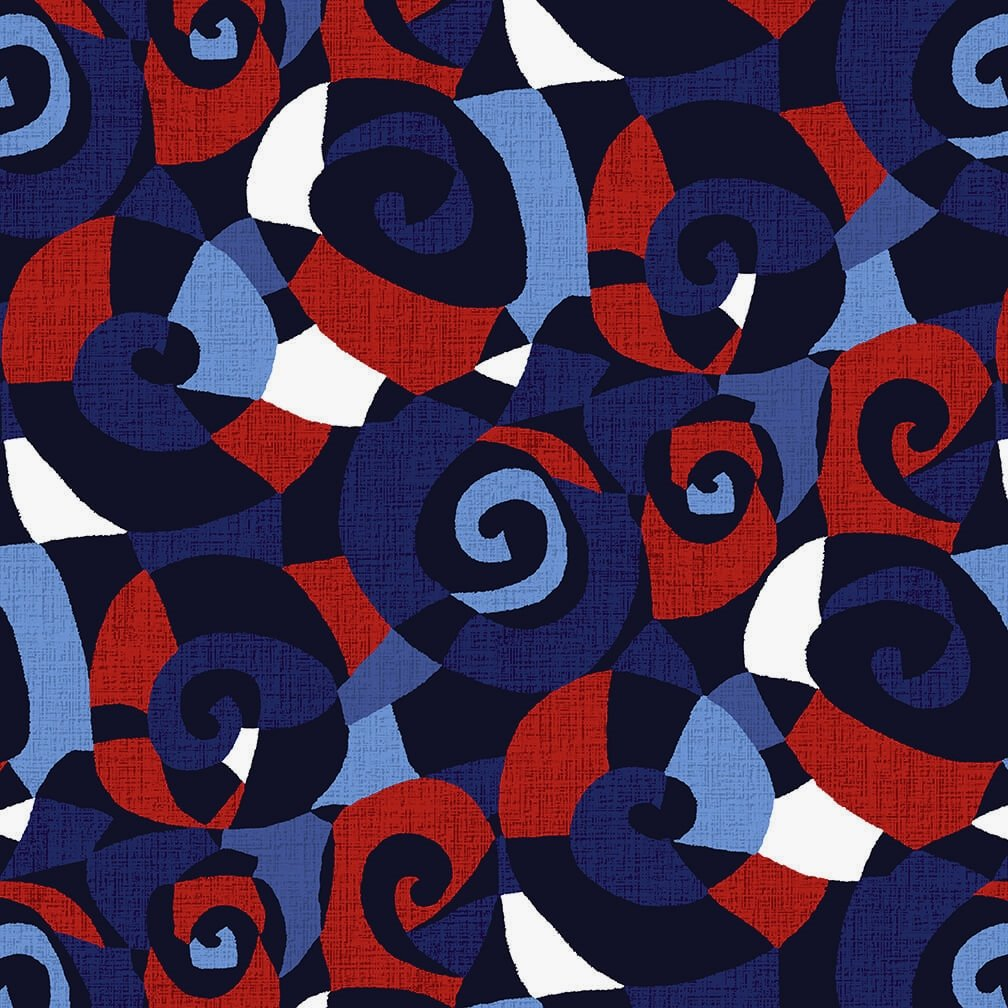 *On Sale!* 108 Sonia Wide Quilt Backing by Chelsea Design Works - Navy/Red