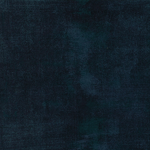 1+1/2 Yard Remnant of 108 Grunge by Basic Grey for Moda 11108 353 - Peacoat