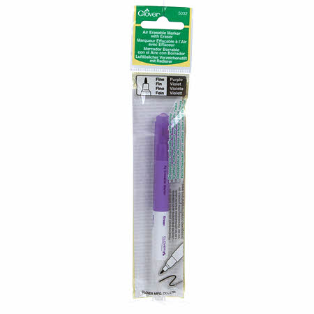 Chacopen Air Erasable Dual Tip Marking Pen with Eraser - Purple