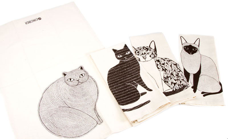 *Clearance!* Catnip Towels Set of 4 by Moda Home