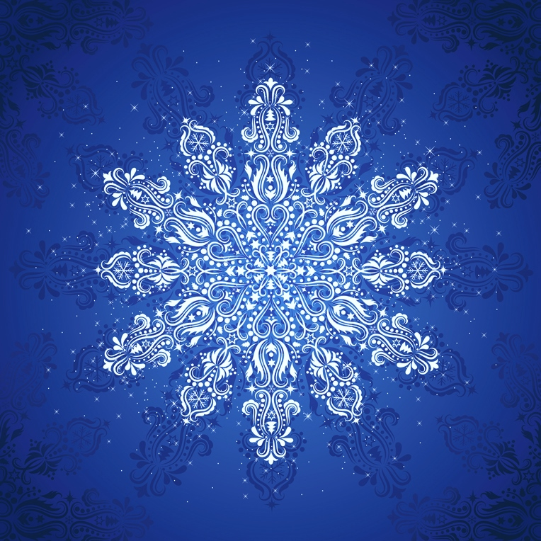 *Clearance!* Gradients Holiday Snowflake Digital Panel 57 x 57 by Moda