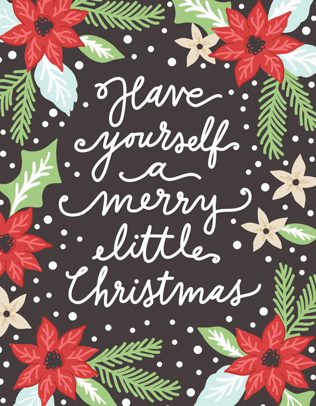 Merry Little Christmas Digital Panel 56 x 74 by Lella Boutique for Moda