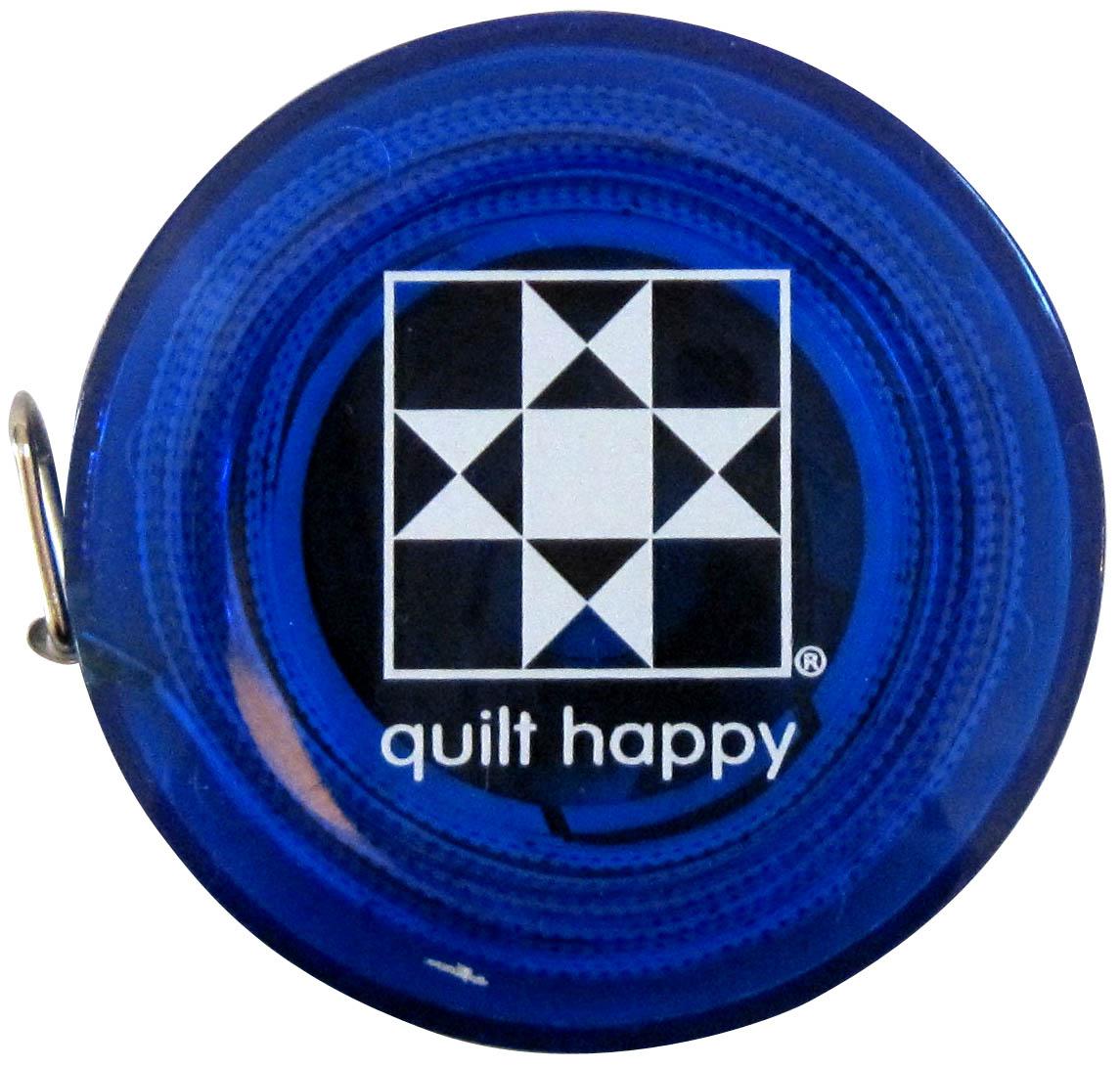 Quilt Happy 5 Ft, Retractable Tape Measure - Blue
