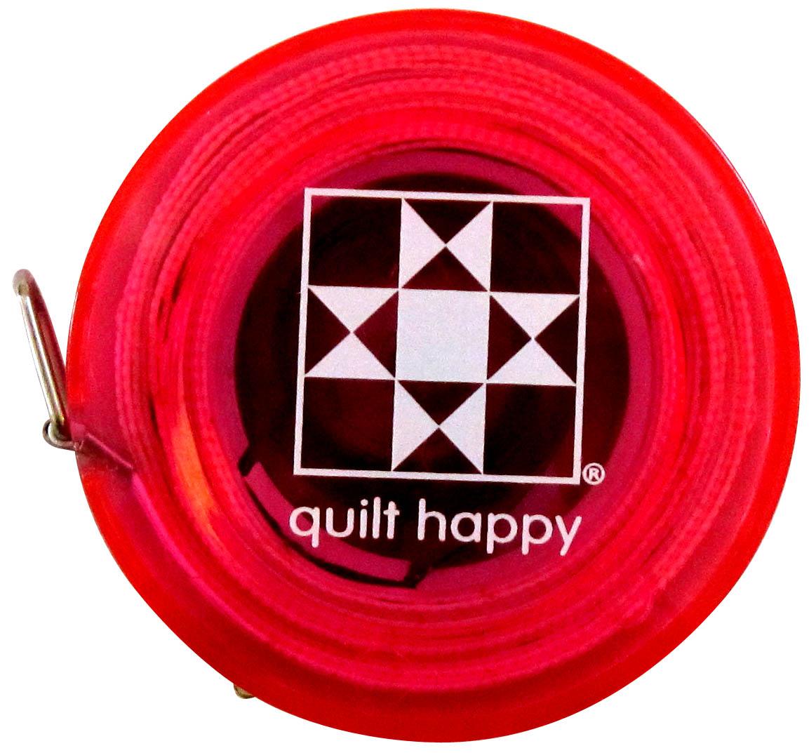Quilt Happy 5 Ft, Retractable Tape Measure - Pink