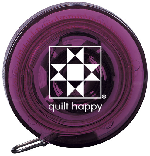 Quilt Happy 5 Ft, Retractable Tape Measure - Purple