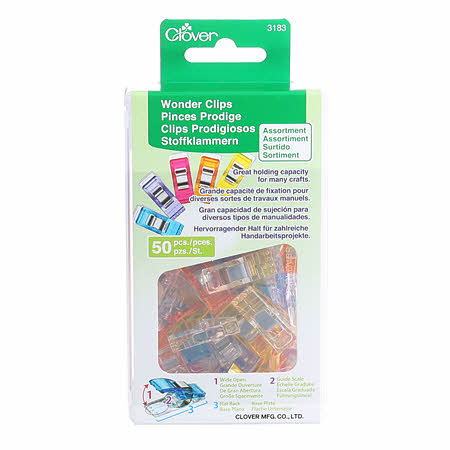 Wonder Clips Asst. Colors by Clover - 50 Count