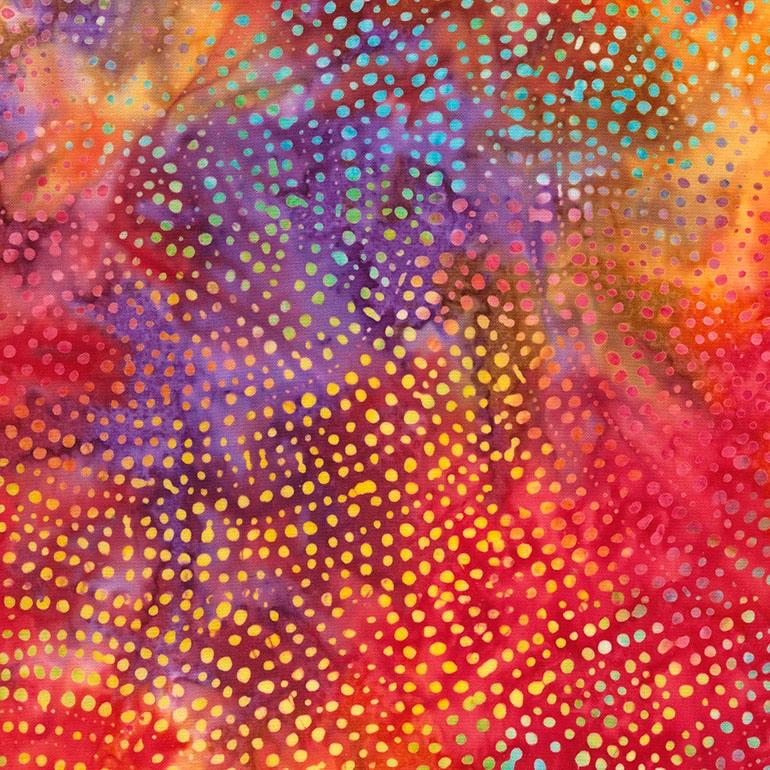 106 Dotty Spiral Extra Wide Tonga Batik - Sunset