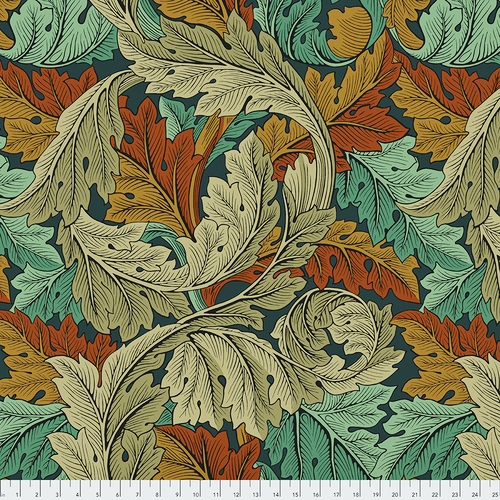 108 Acanthus Wide Quilt Backing by The Original Morris & Co. for FreeSpirit - Autumn