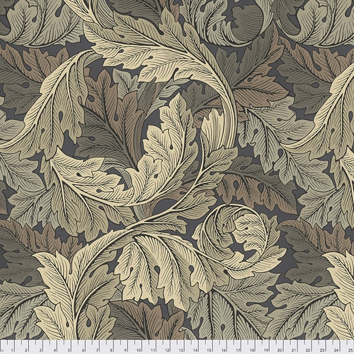 108 Acanthus Wide Quilt Backing by The Original Morris & Co. for FreeSpirit - Mole