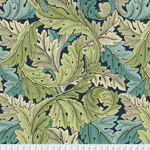 108 Acanthus Wide Quilt Backing by The Original Morris & Co. for FreeSpirit - Verdant