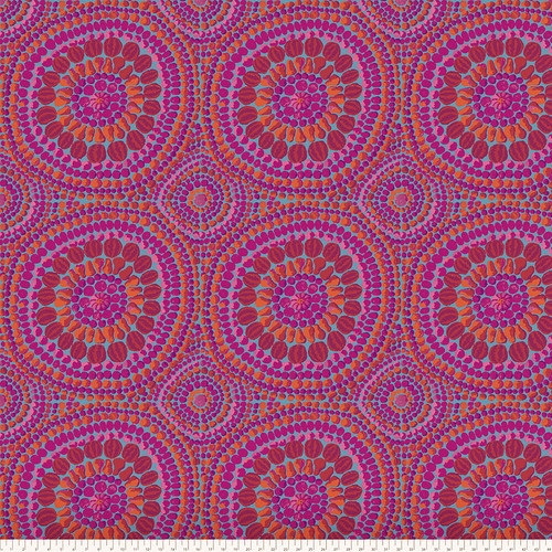 108 Fruit Mandala Wide Cotton Sateen Quilt Backing by Kaffe Fassett - Pink