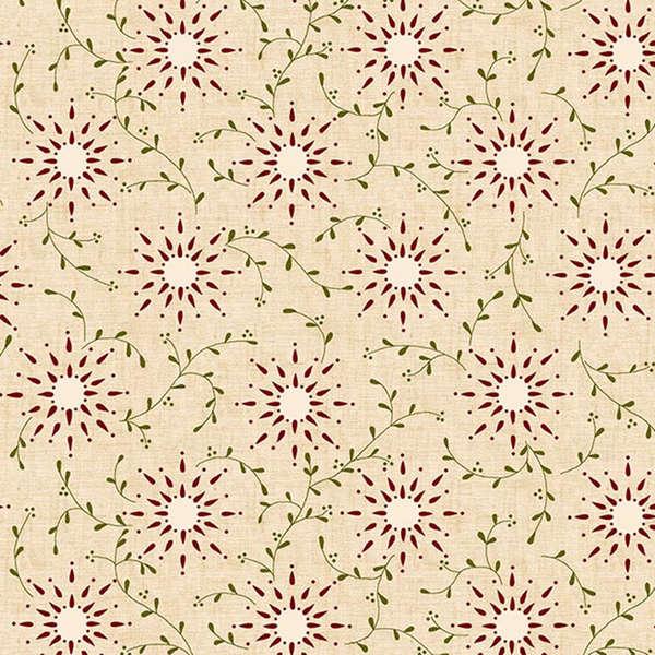 108 Prairie Vine Vintage Farmhouse Wide Quilt Backing - Cream