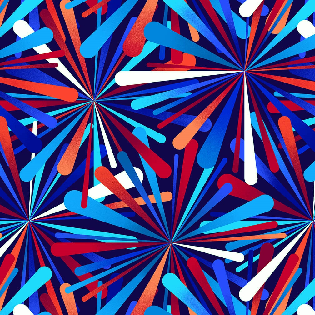 108 Smashing Atoms Wide Quilt Backing by Color Principle for Henry Glass - Patriotic