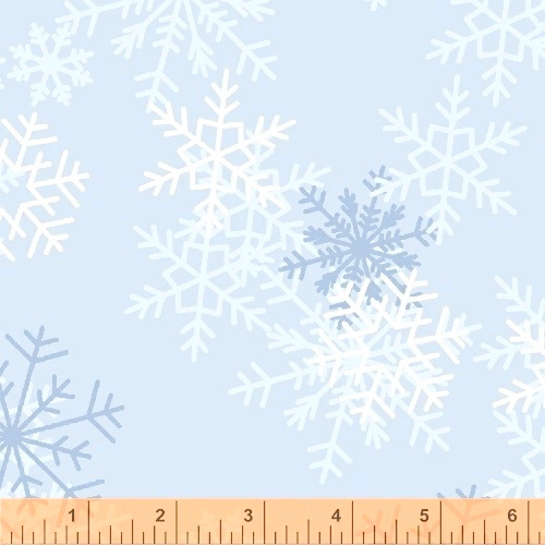 108 Snowflake Wide Quilt Backing by Whistler Studios - Blue