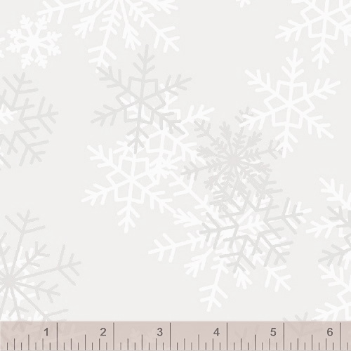 108 Snowflake Wide Quilt Backing by Whistler Studios - Light Gray