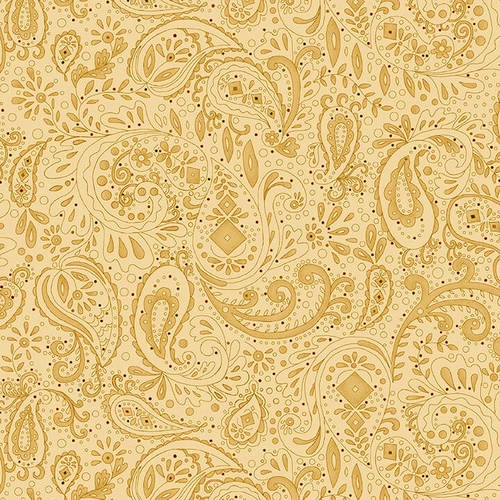 108 Spiced Paisley Wide Quilt Backing by Kim Diehl for Henry Glass - Beige