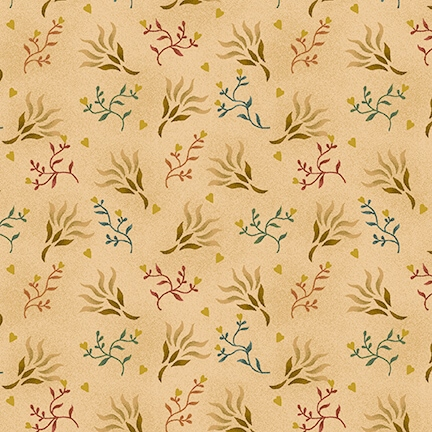 108 Spiced Seaweed Wide Quilt Backing by Kim Diehl for Henry Glass - Beige