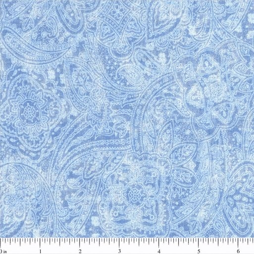 108 Value Collection Subtle Paisley Wide Quilt Backing - Light Blue