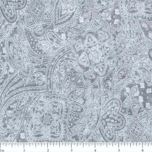 108 Value Collection Subtle Paisley Wide Quilt Backing - Light Grey