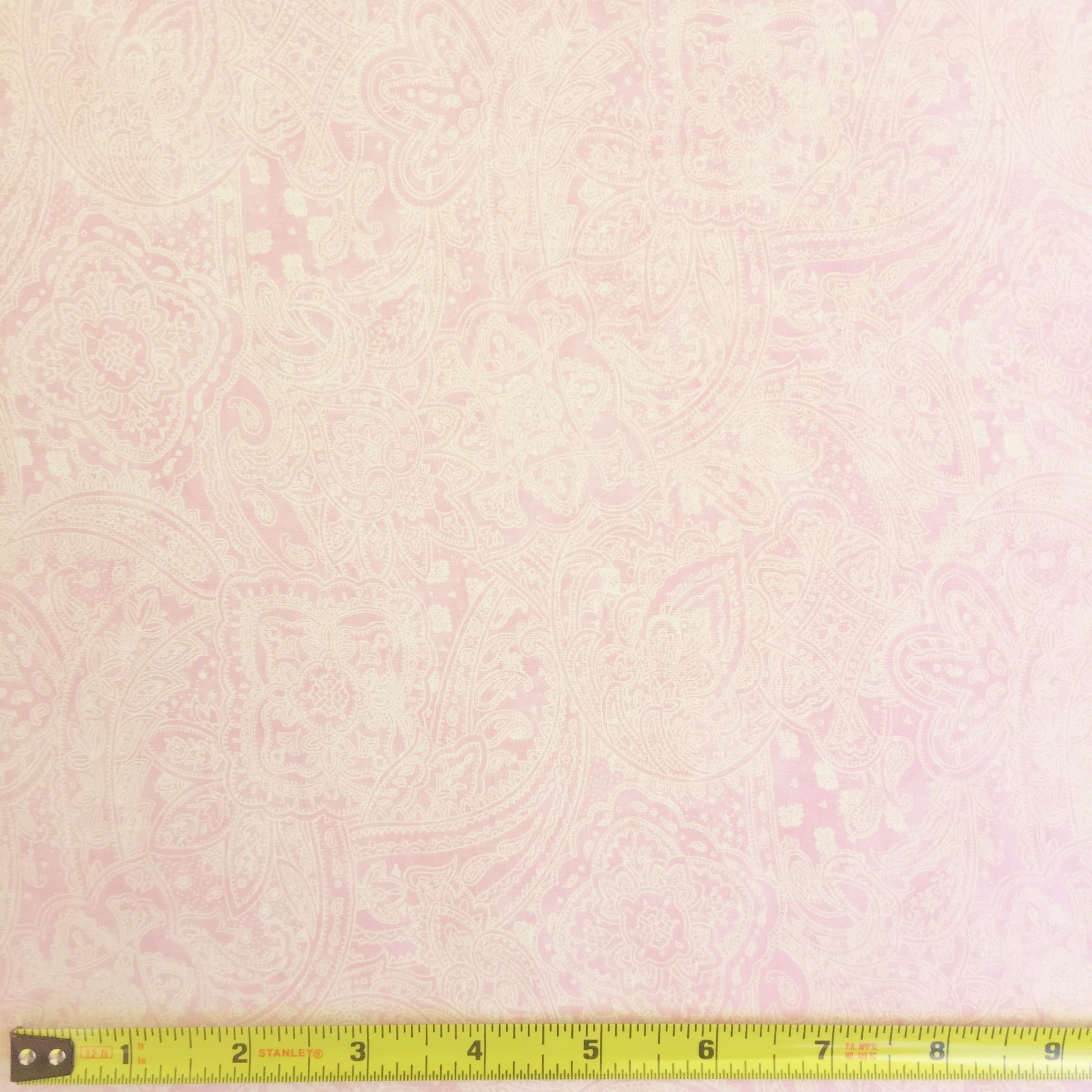 108 Value Collection Subtle Paisley Wide Quilt Backing - Light Pink