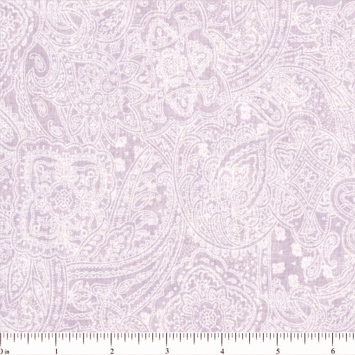 108 Value Collection Subtle Paisley Wide Quilt Backing - Lilac