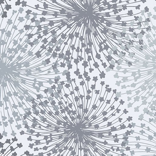 108 Dandelion Dreams Wide Quilt Backing by Kanvas Studio - Light Gray
