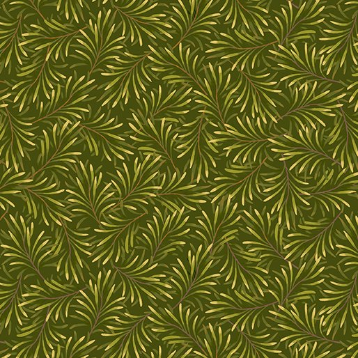 108 Boughs of Beauty Wide Quilt Backing by Kanvas Studio - Medium Green
