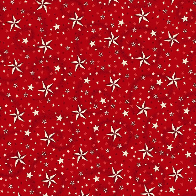 108 American Dreams Wide Quilt Backing - Red