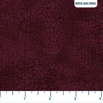 106/108 Crackle Wide Quilt Backing by Northcott Studio - Burgundy