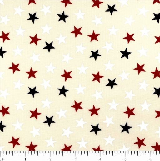 108 Value Collection Stand Up For America Random Stars Wide Quilt Backing - Neutral