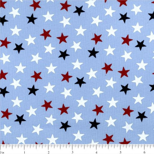 108 Value Collection Stand Up For America Random Stars Wide Quilt Backing - Blue