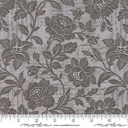 **LAST CHANCE - DISCONTINUED** 2+1/2 Yard Cut of 108 Memoirs Cotton Sateen Wide Quilt Backing by 3 Sisters for Moda - Silver