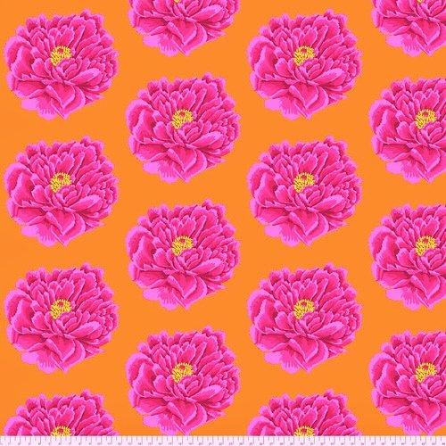 108 Full Bloom Wide Cotton Sateen Quilt Backing by Kaffe Fassett - Pink