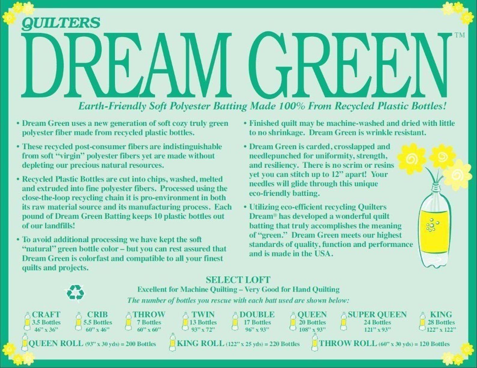 Quilters Dream Green Batting - Select Loft