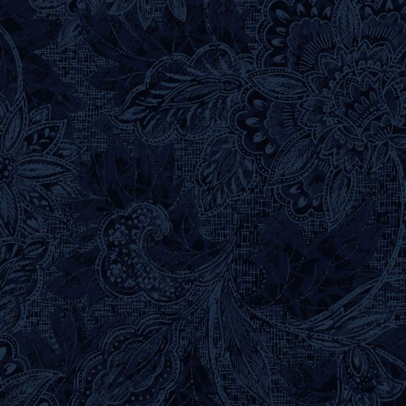 116/118 Shadows Wide Quilt Backing by Oasis Fabrics - Navy