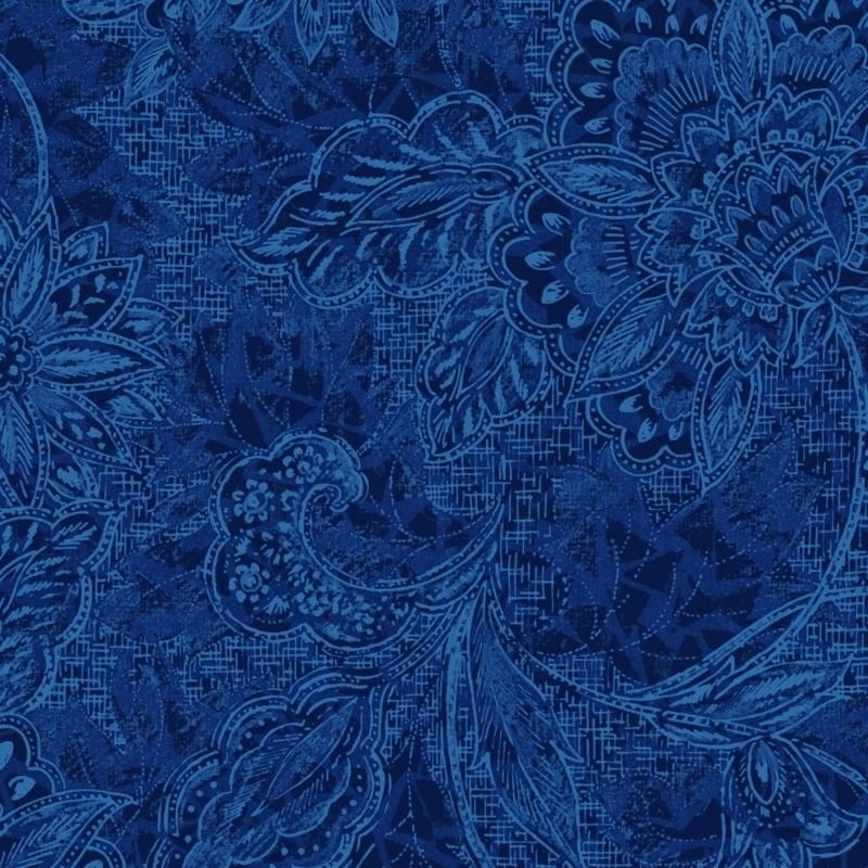 116/118 Shadows Wide Quilt Backing by Oasis Fabrics - Royal