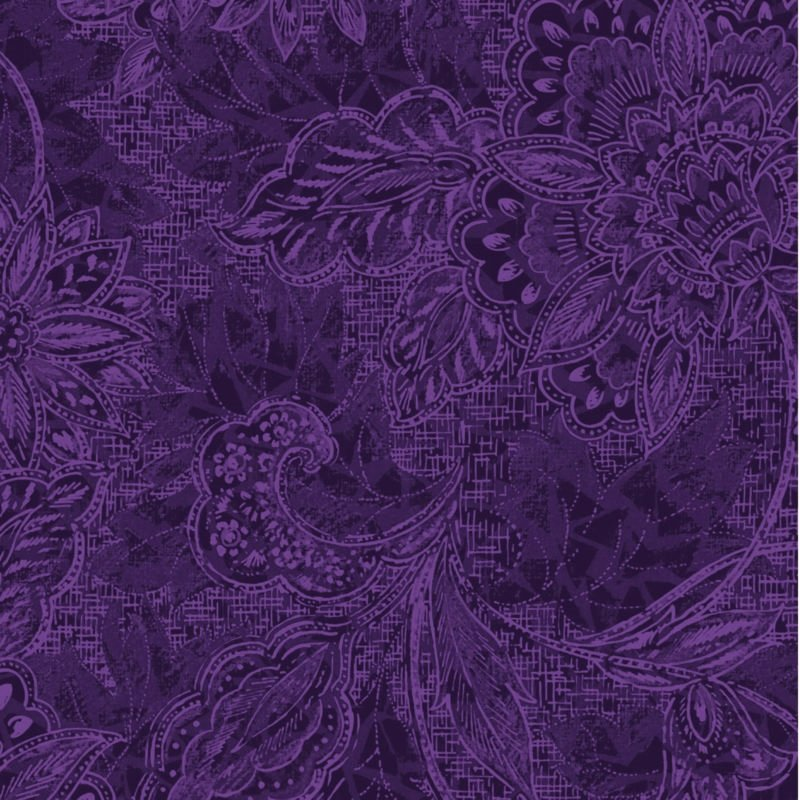 116/118 Shadows Wide Quilt Backing by Oasis Fabrics - Amethyst
