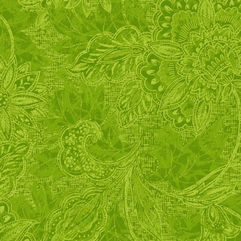 116/118 Shadows Wide Quilt Backing by Oasis Fabrics - Green
