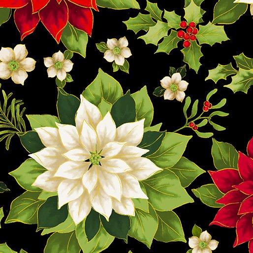 108 Joyous Garden Wide Quilt Backing by Kanvas Studio - Black/Multi