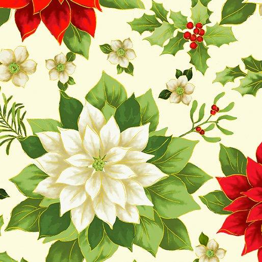 108 Joyous Garden Wide Quilt Backing by Kanvas Studio - Cream/Multi